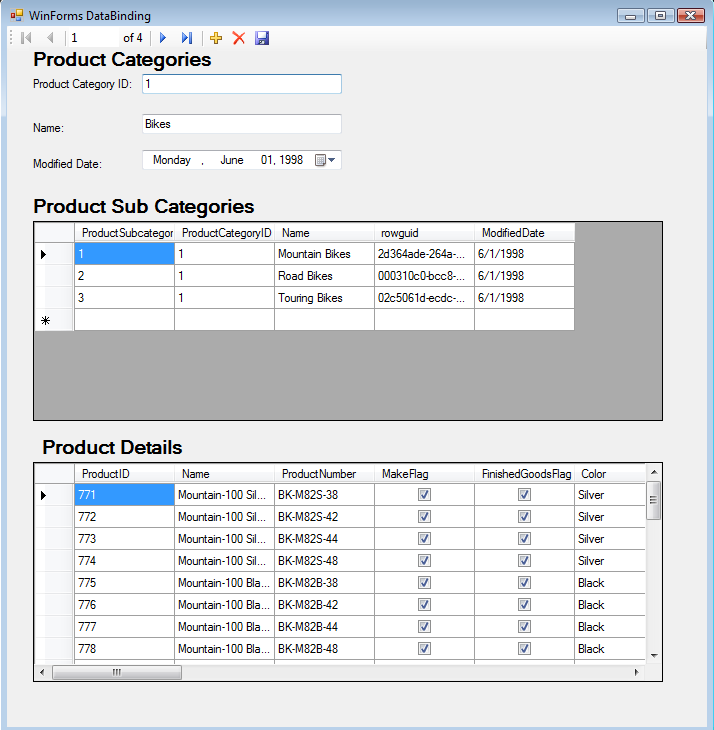 Data Binding In Windows Forms