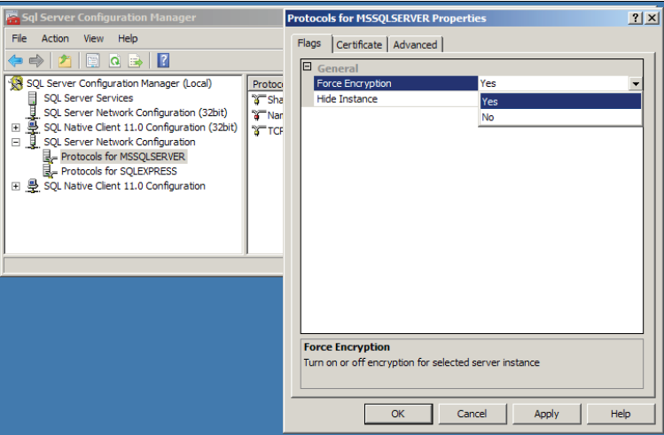 Encrypting the session with SSL in SQL Server - TechBubbles