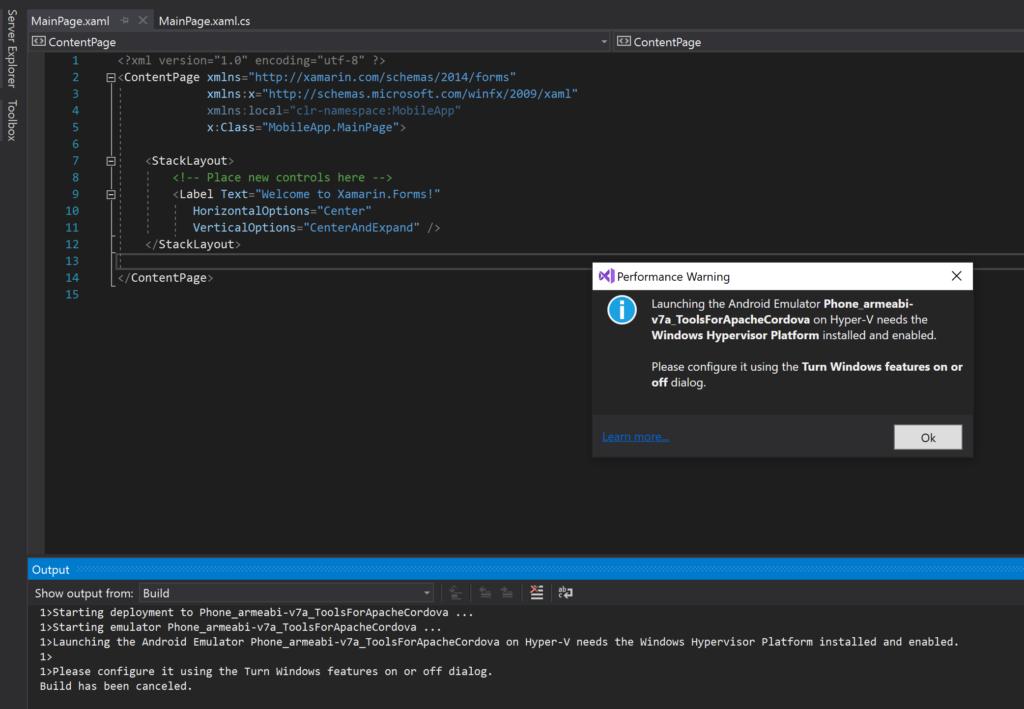 Android Emulator Setup tip -Visual Studio - TechBubbles